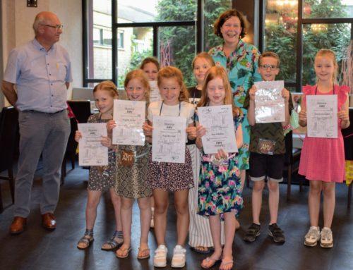 Harmonie Sint Jan deelt diploma's uit